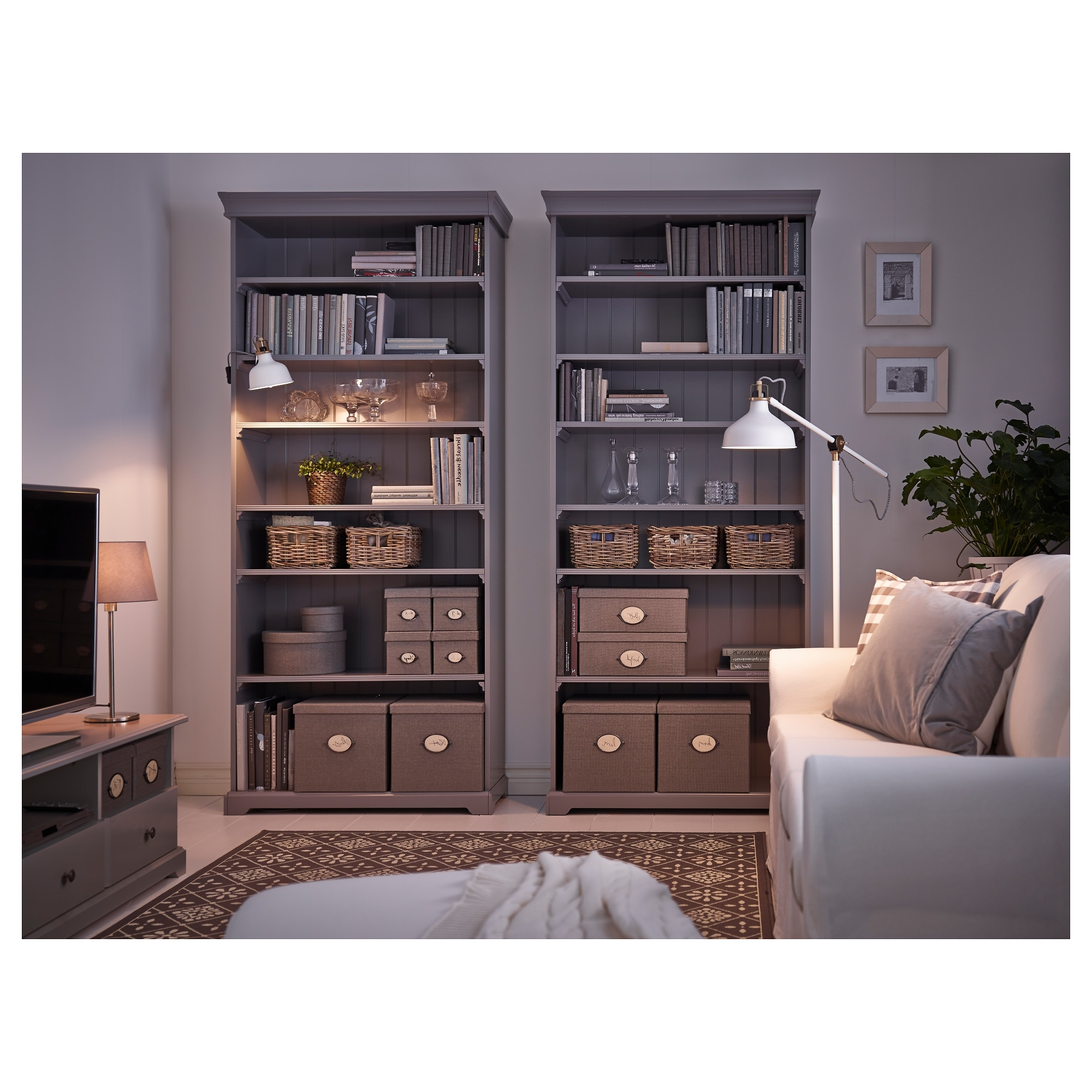 Trendy Liatorp Bookcases Pertaining To Liatorp Bookcase Grey 96X214 Cm – Ikea (View 14 of 15)