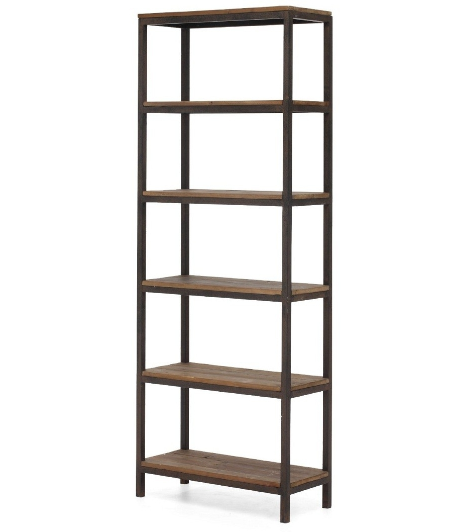 Trendy Metal And Wood Bookcases For Bookcases Ideas: Metal And Wood Bookcase With Ladd ~ Munro Inn (View 14 of 15)