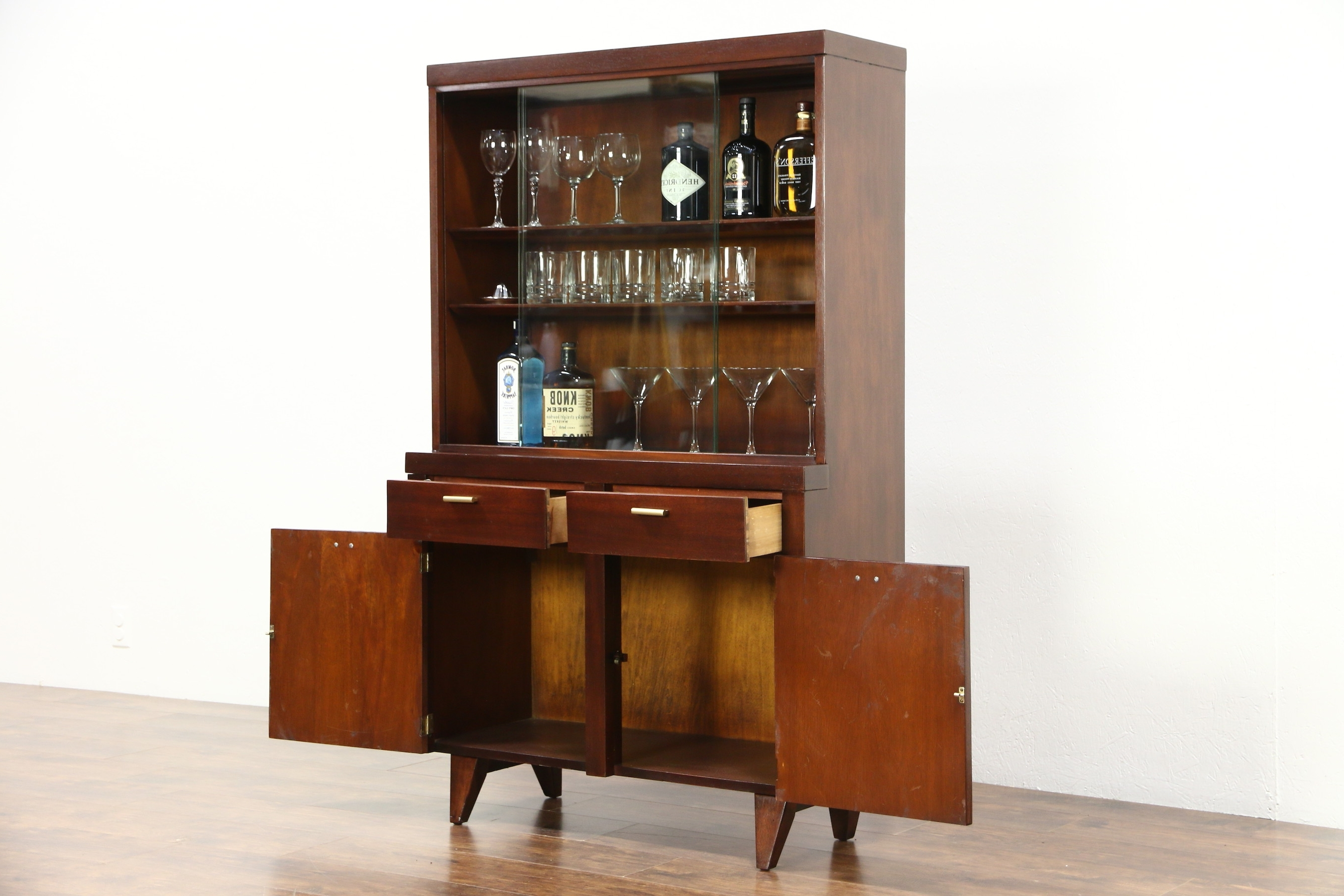 Trendy Modern Breakfront Pertaining To Sold – Midcentury Modern 1960 Vintage Bar, China Or Curio Display (View 12 of 15)