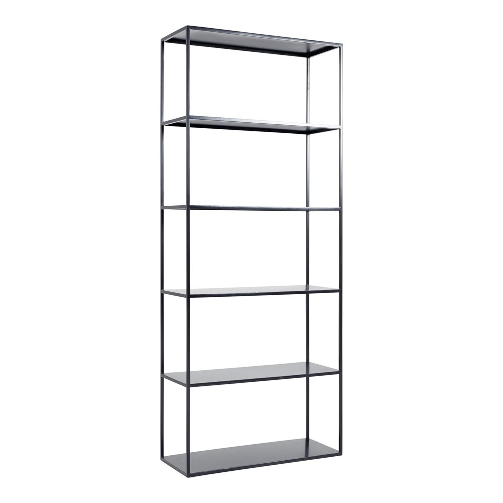 Trendy Modern Designer Soho Black Steel Metal Bookcase/standing Shelf Throughout Steel Bookcases (View 15 of 15)