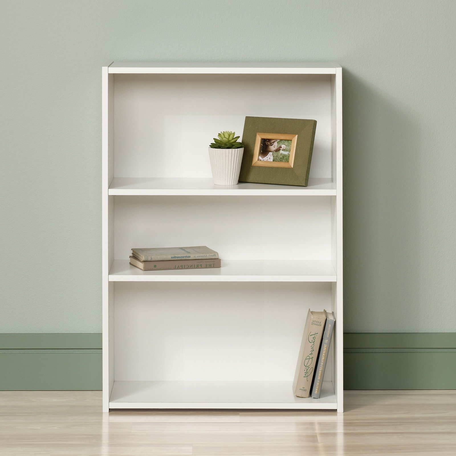 Trendy Sauder Beginnings 3 Shelf Bookcase, Multiple Finishes – Walmart With Ameriwood 3 Shelf Bookcases (View 15 of 15)
