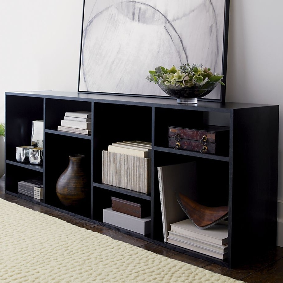"Trendy Shift Black 74"" Bookcase In Tv Stands Media Consoles (View 8 of 15)"