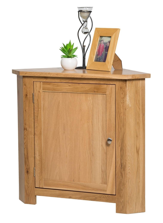 Trendy Small Oak Cupboard Intended For Waverly Oak 1 Door Small Corner Cabinet In Light Oak Finish (View 6 of 15)
