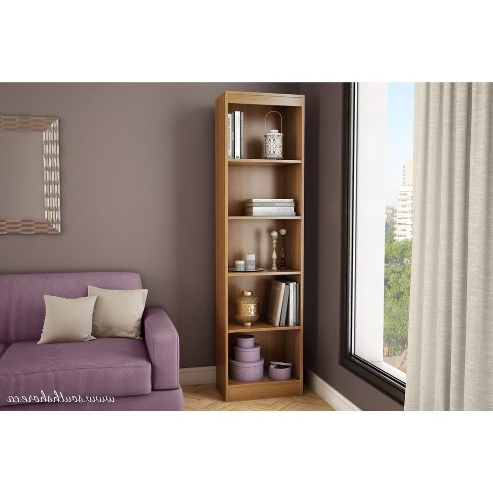 Trendy South Shore 5 Shelf Bookcases Within South Shore Axess 5 Shelf Bookcase In Morgan Cherry 7276758 – The (View 4 of 15)