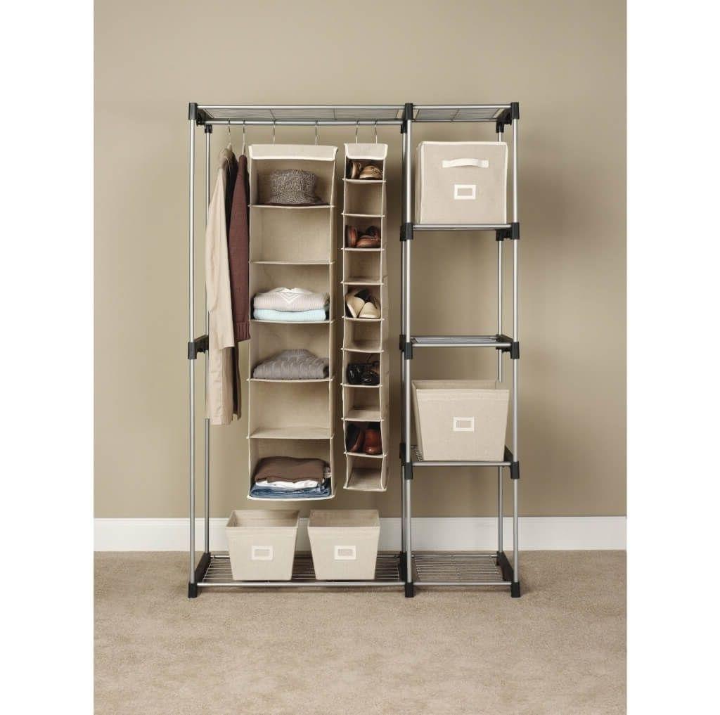 Trendy Storage & Organization: Best Whitmor Hanging Wardrobe Storage With Hanging Wardrobes Shelves (View 14 of 15)