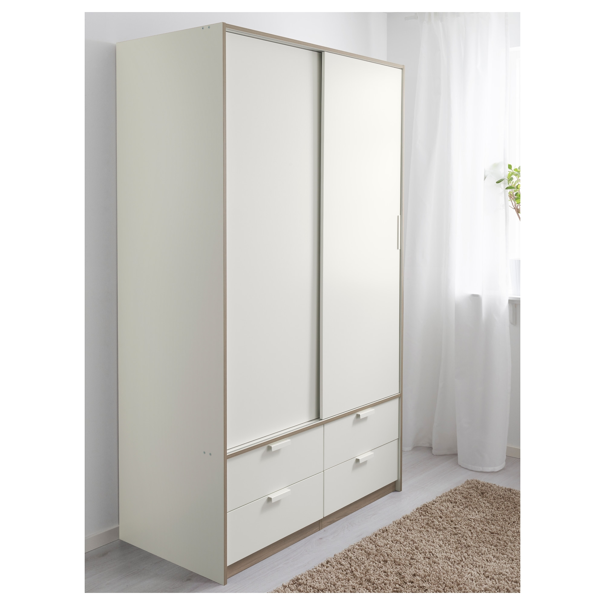 Trendy Trysil Wardrobe W Sliding Doors/4 Drawers – Ikea Throughout Sliding Door Wardrobes (View 15 of 15)