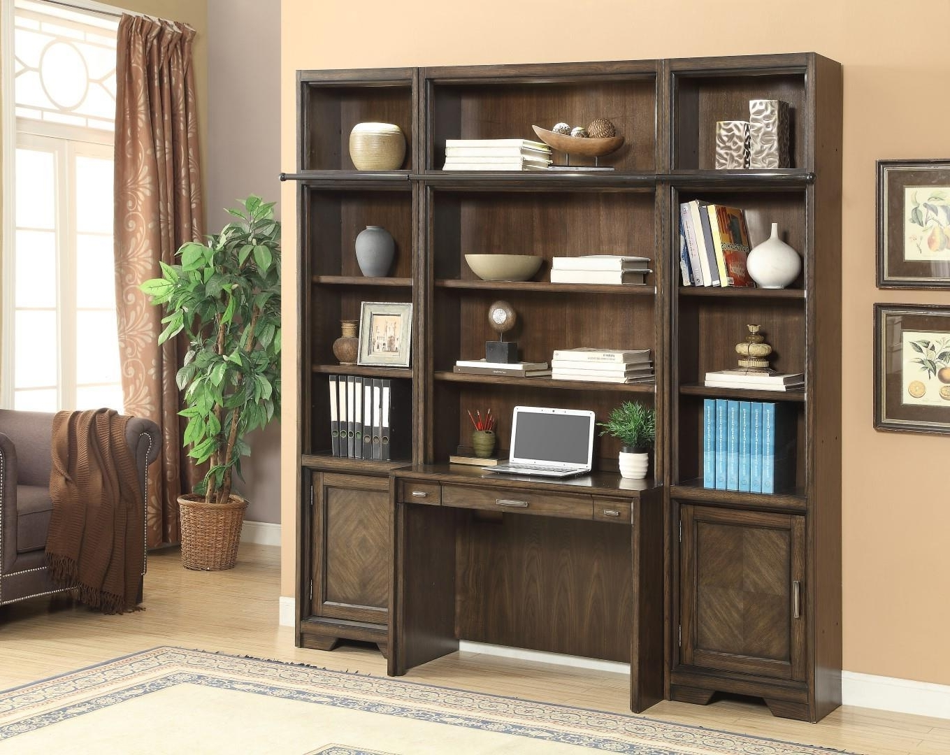 Trendy Wall Library Bookcases Within Wall Units (View 5 of 15)