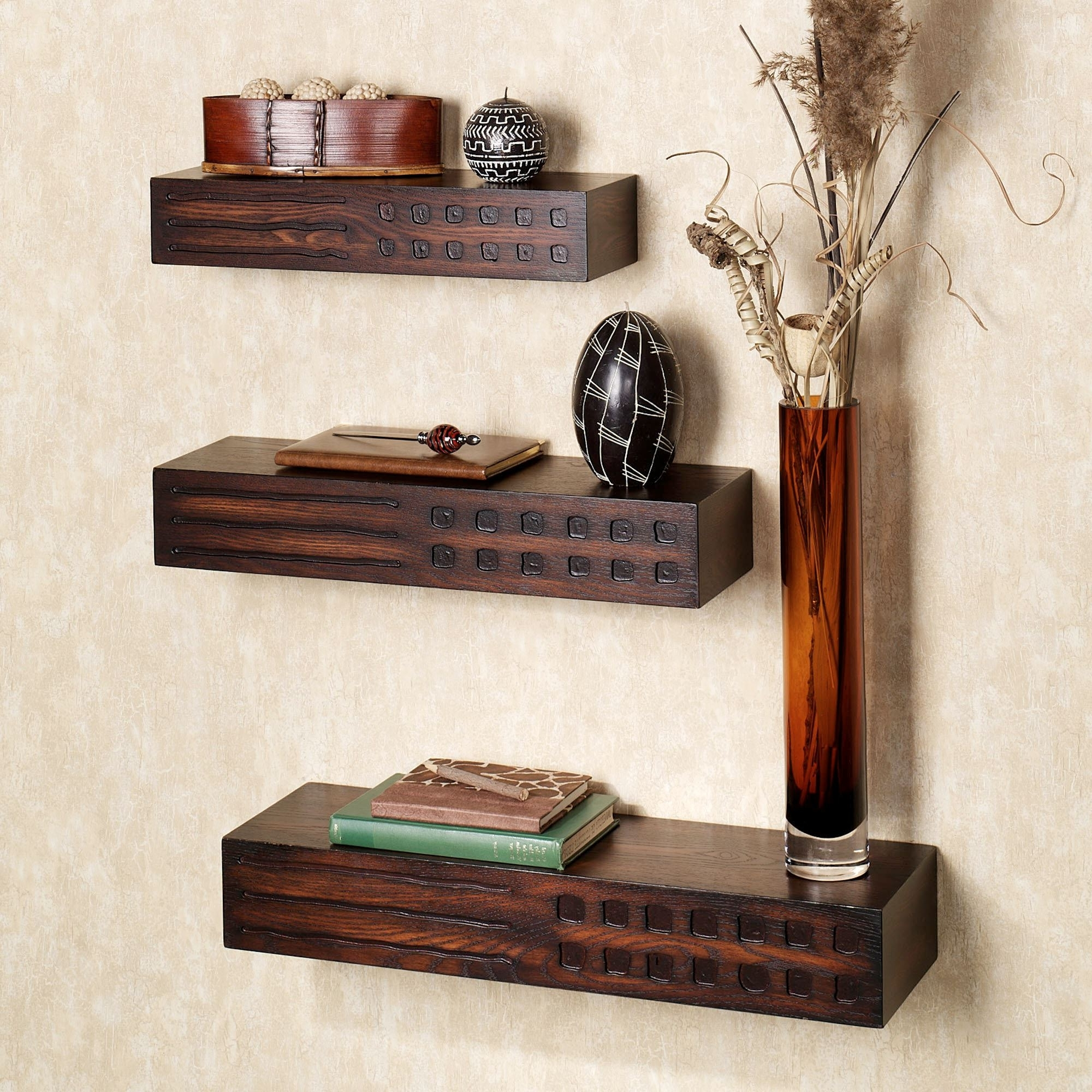 Trendy Wall Shelves Throughout Wagner Wall Ledge Shelves Set (View 7 of 15)