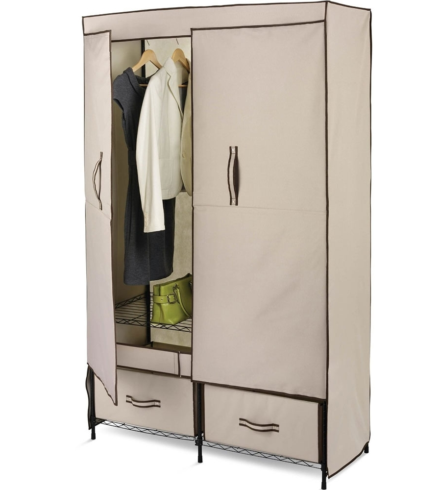 Trendy Wardrobes Hangers Storages With Closet Storage : Portable Shelving Units Cheap Clothes Racks For (View 11 of 15)