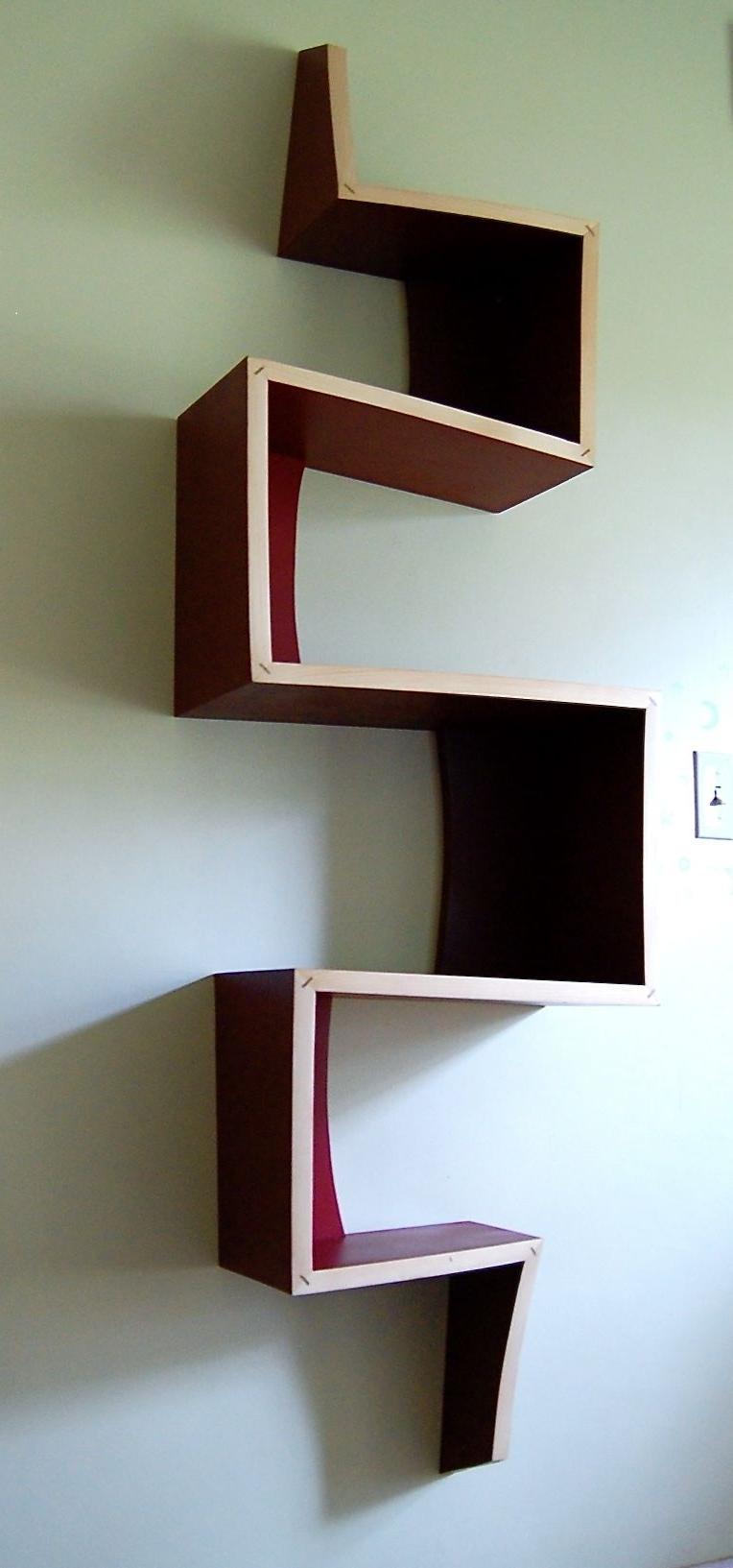 Trendy Zig Zag Bookcases With Regard To 56 Zig Zag Book Shelf, Book Display Shelf Zig Zag Diy Zig Zag (View 3 of 15)