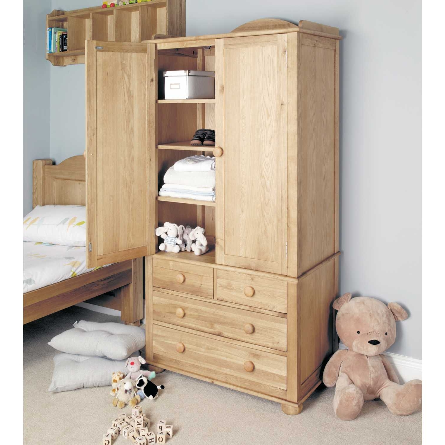Triple Wardrobe With Shelves And Drawers • Drawer Ideas Inside Well Known Wardrobe With Drawers And Shelves (View 12 of 15)