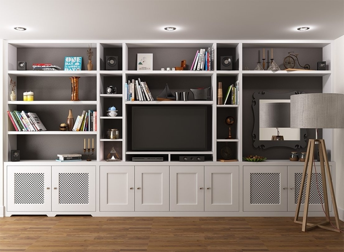 Tv Book Case Regarding Widely Used Marvelous Tv Bookcase Wall Unit Plans Bookshelf Stand Combo Gray (View 7 of 15)