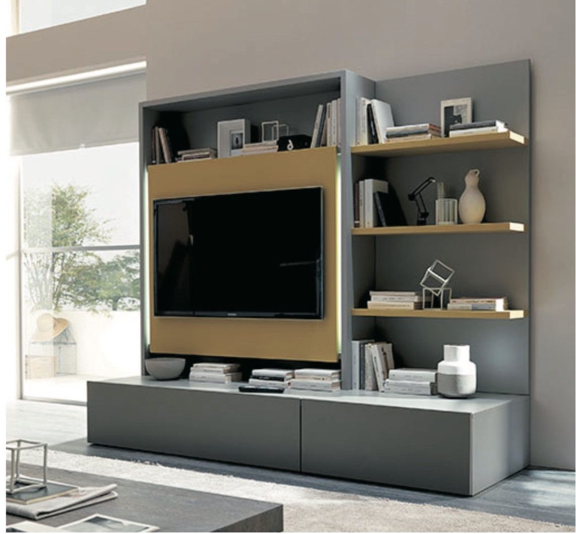 Tv Wall Units With Regard To Most Popular Italian Furniture Space Saving Wall Units Tv Unit Design With Side (View 14 of 15)