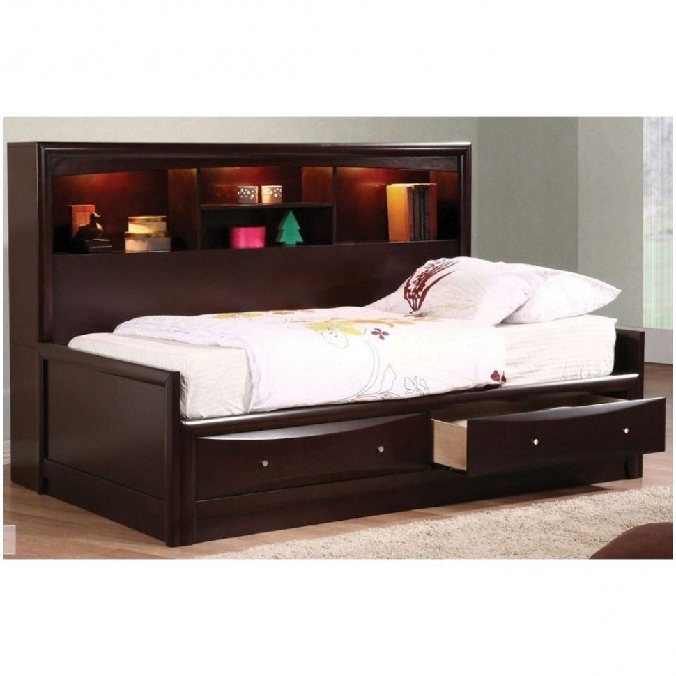 The Best Twin Bed With Bookcases Headboard