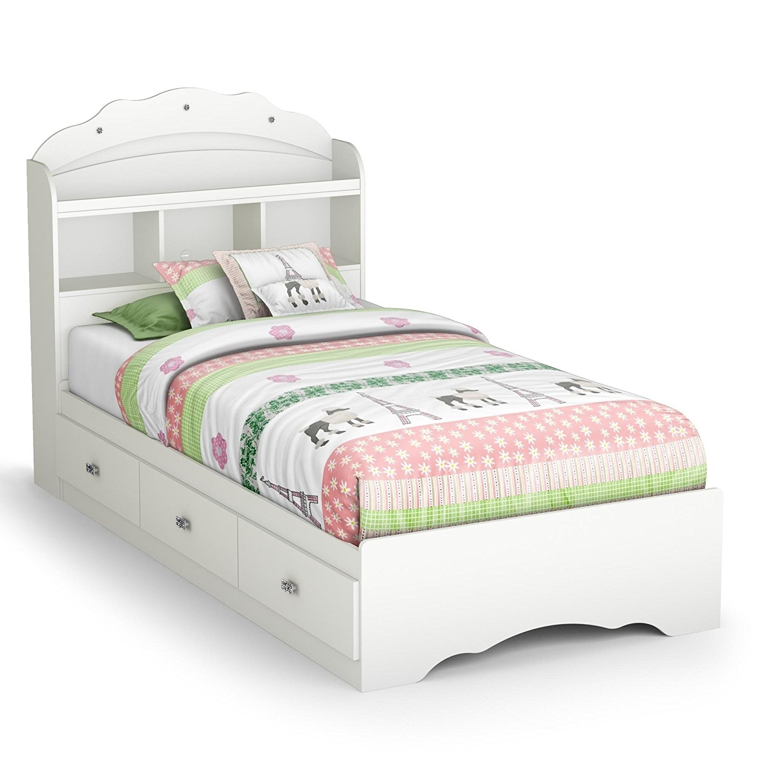 Twin Headboard Bookcases With Regard To Most Up To Date Amazon: Tiara Twin Mate's Bed & Bookcase Headboard: Toys & Games (View 12 of 15)