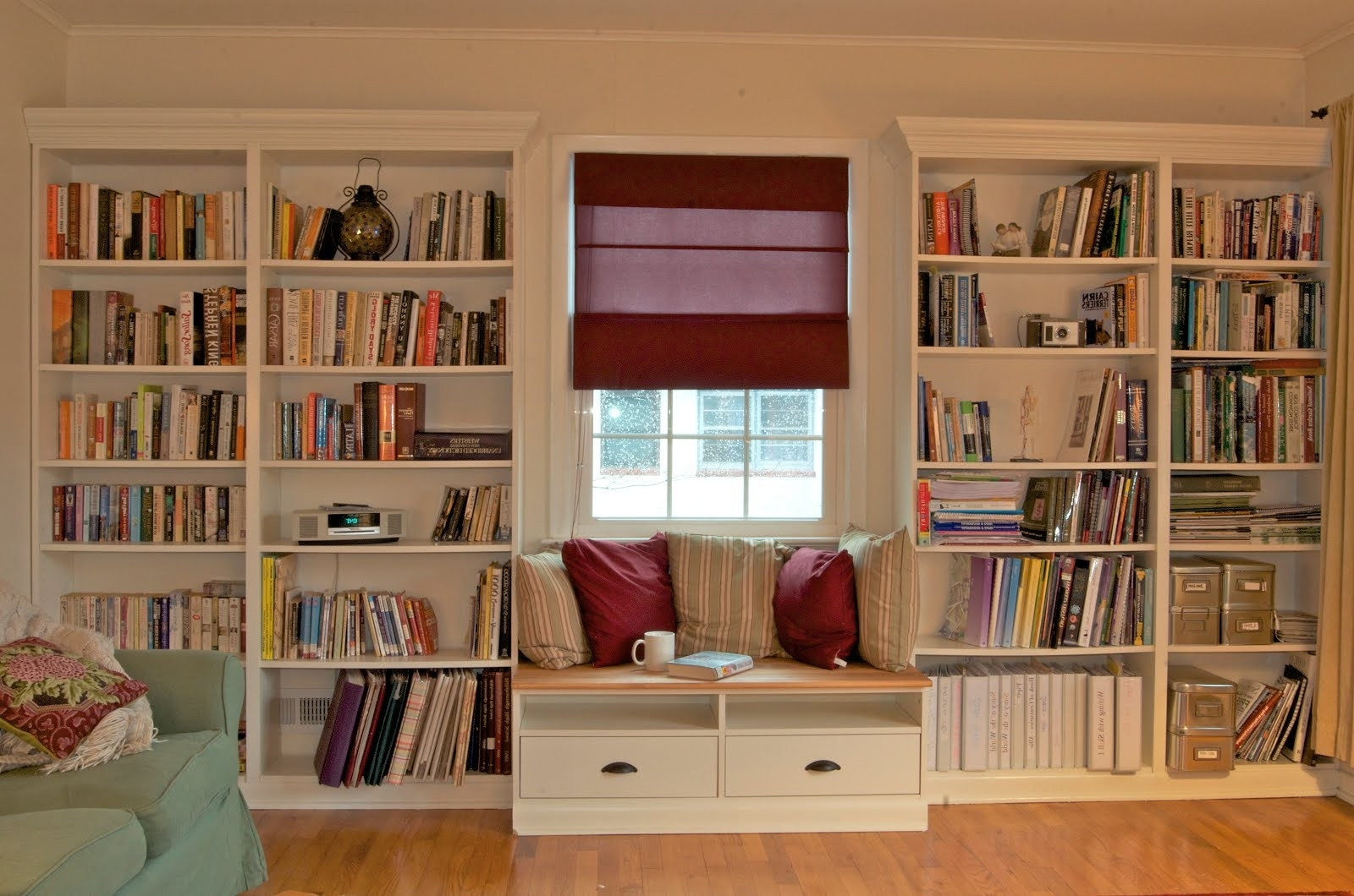 Under Window Bookcases Within Fashionable Built In Bookshelves With Window Seat For Under $350 – Ikea Hackers (View 3 of 15)