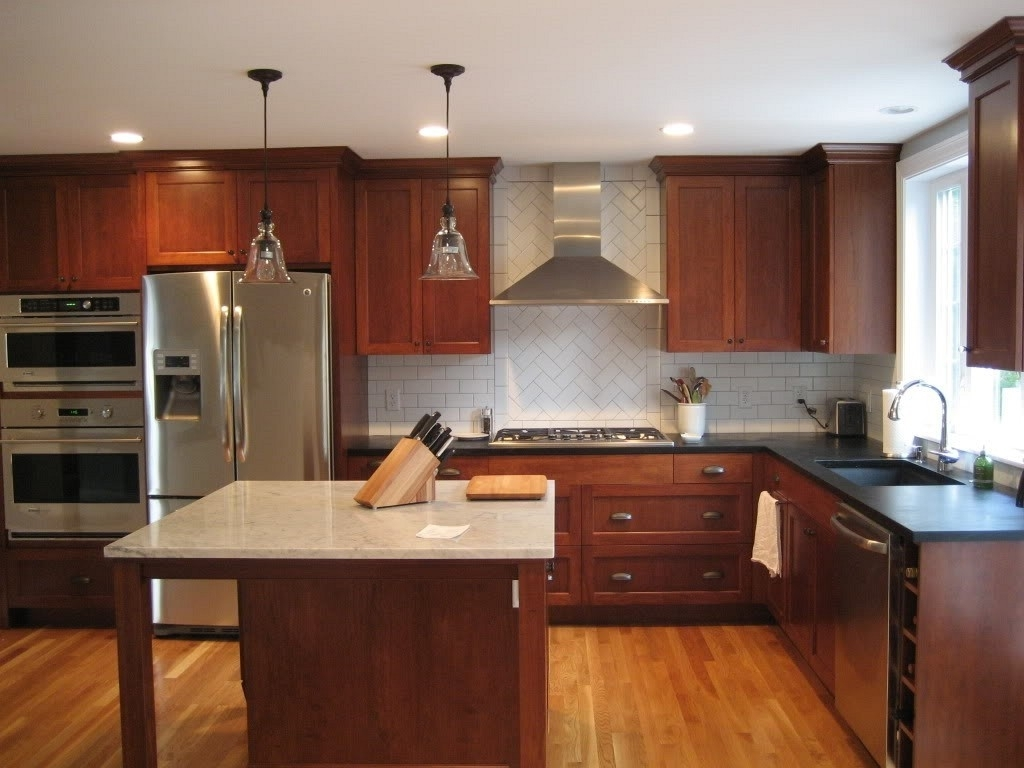 Unfinished Wood Countertop Bright White Paint Cabinet Colors With Regard To Newest Oak Cupboards (Gallery 15 of 15)