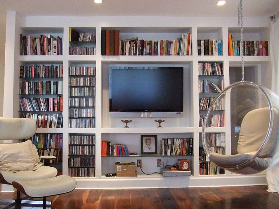 Unique Tv Stand With Bookshelves For Your Home Design Ideas Space Pertaining To 2017 Bookcases With Tv Stand (Gallery 4 of 15)
