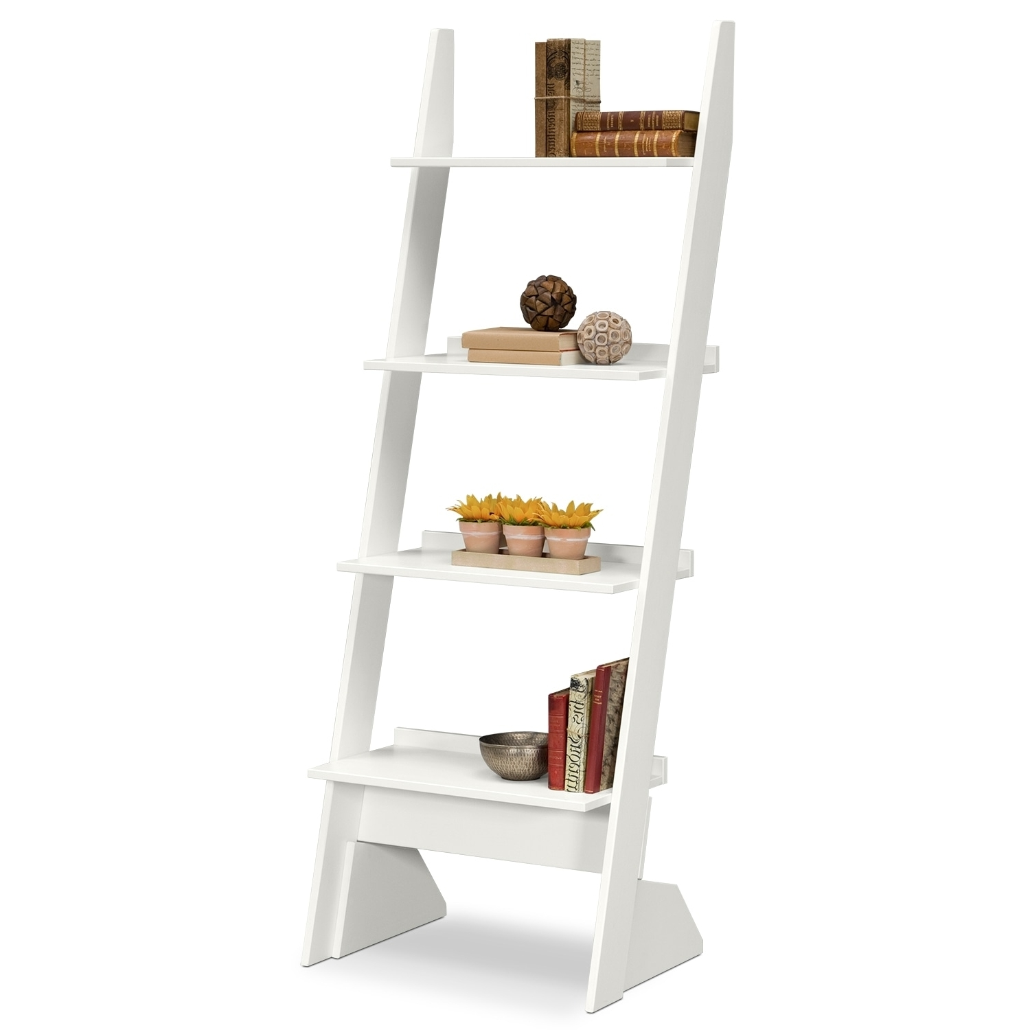 Value City Furniture In White Leaning Bookcases (View 10 of 15)