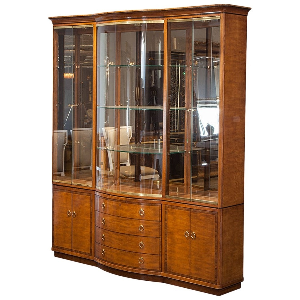 Vintage Drexel Heritage Breakfront Display Cabinet At 1Stdibs With Regard To Most Recent Modern Breakfront (View 13 of 15)