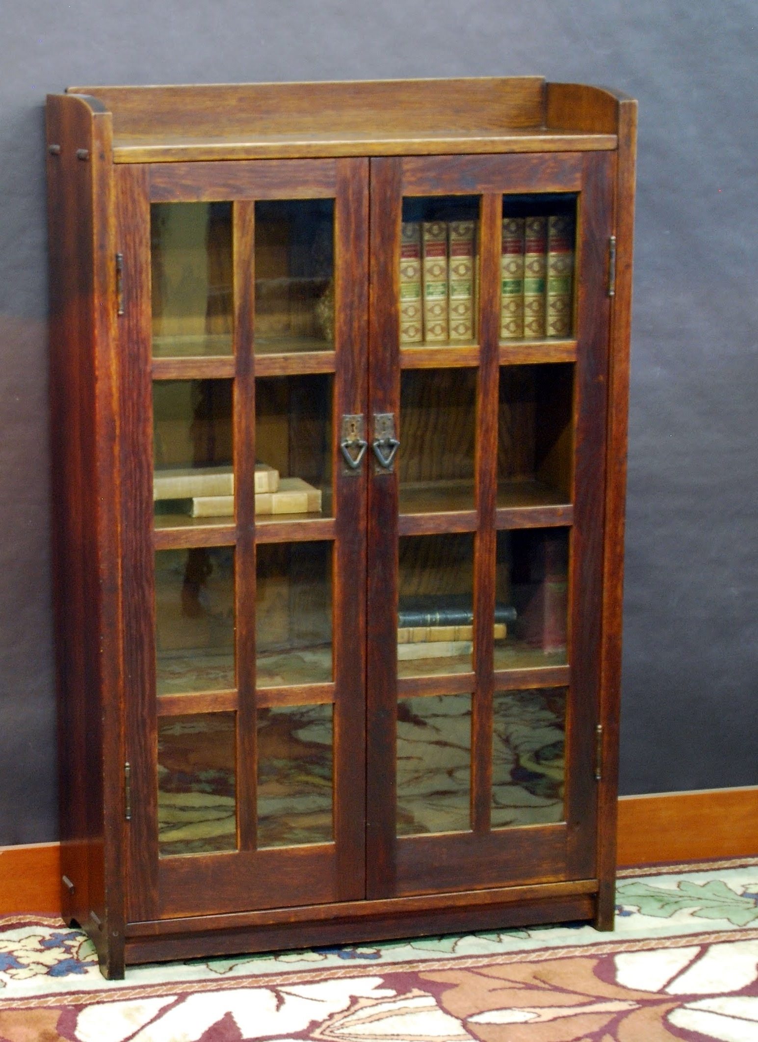 Voorhees Craftsman Mission Oak Furniture – Gustav Stickley 36 In Pertaining To Favorite Stickley Bookcases (View 2 of 15)