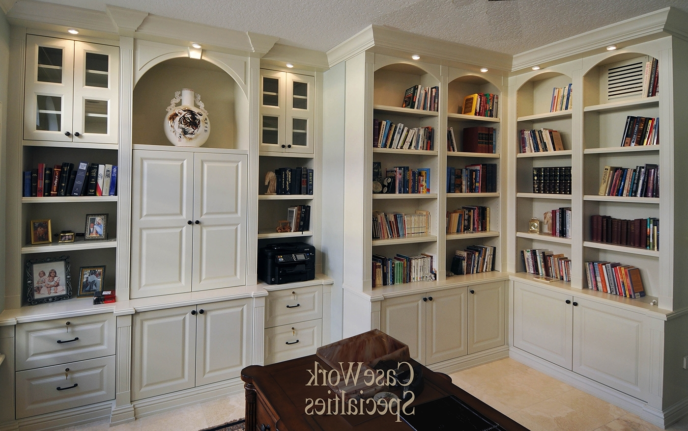 Wall Bookcases Inside Popular Unusual Designed Then Custom Bookcases Orlando Wood Shelving (View 14 of 15)