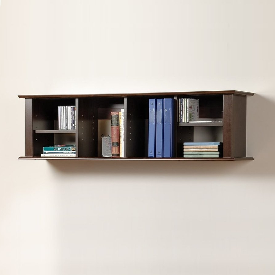 Wall Shelves Design: Wall Shelves Lowes And Ledges Home Depot In Current Wall Mounted Bookcases (View 8 of 15)
