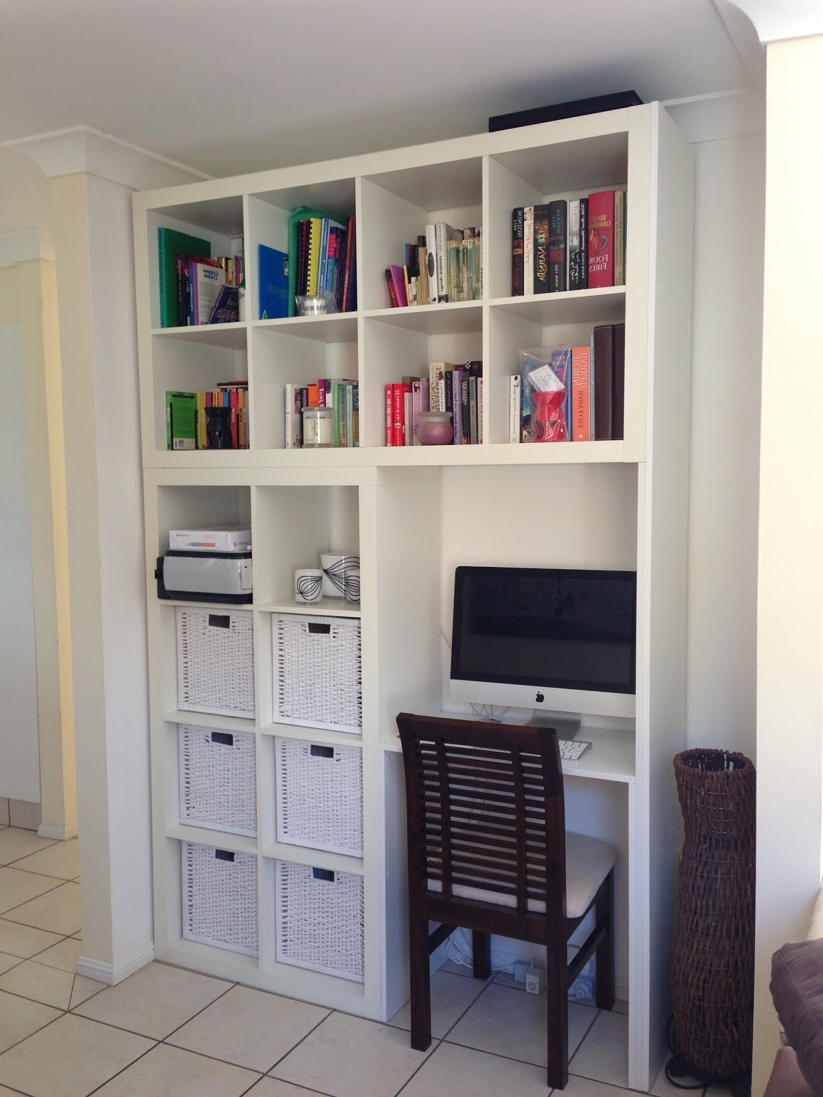 Wall Units With Desk And Bookcase Plus Cabinets (View 5 of 15)