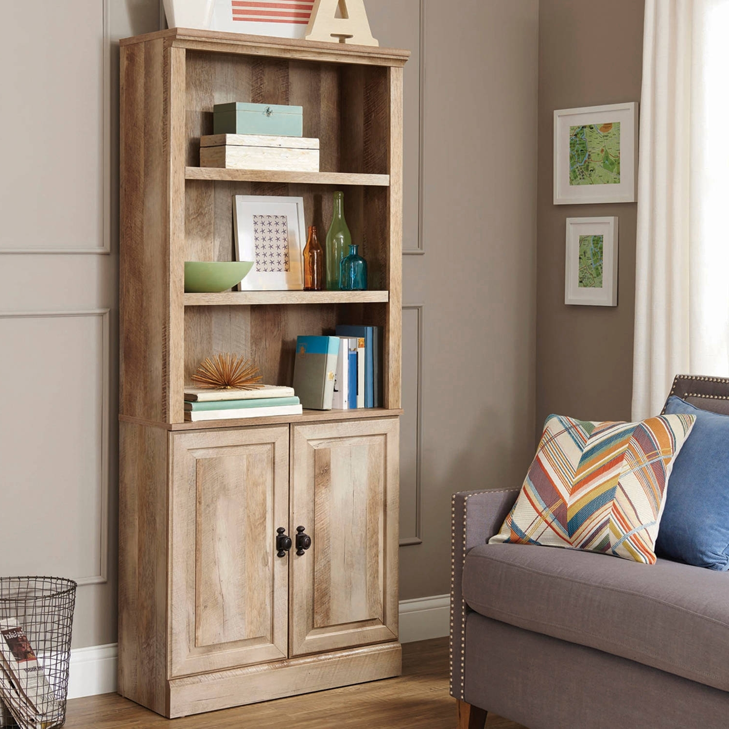 Walmart Bookcases With Well Known Better Homes And Gardens Crossmill Bookcase With Doors, Set Of  (View 15 of 15)