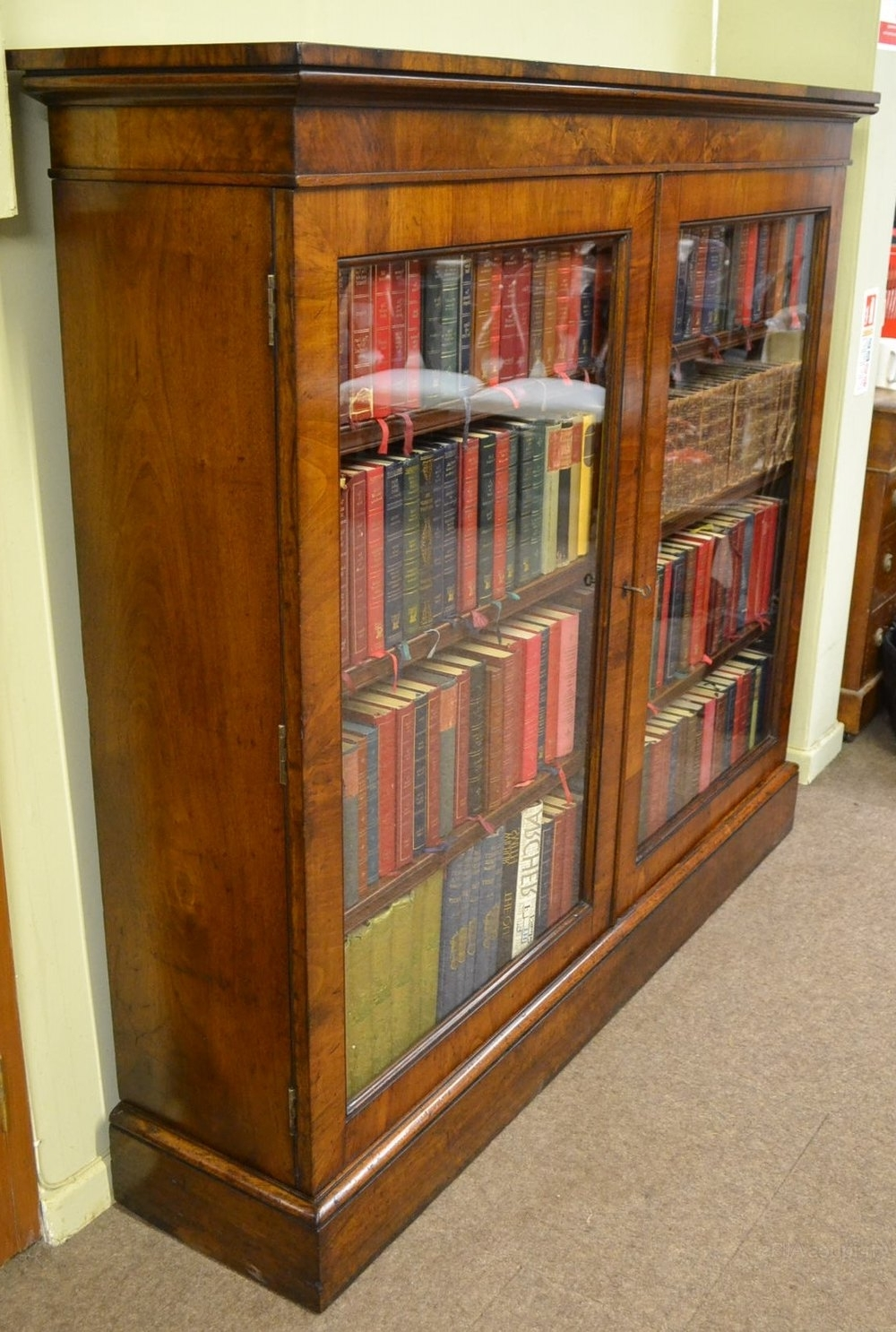 Walnut Bookcases Throughout Famous Walnut Bookcase C1870 – Antiques Atlas (View 9 of 15)
