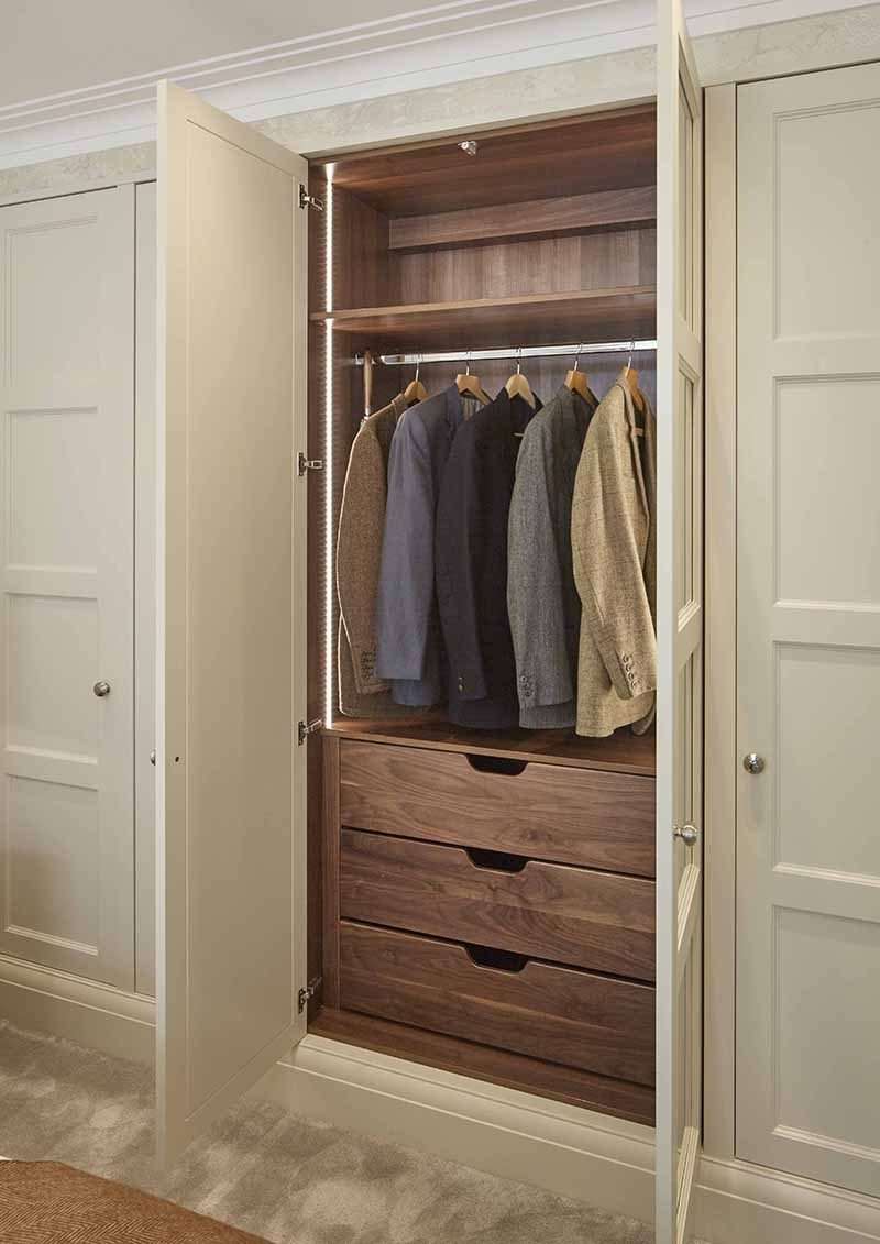 Wardrobe Design : Fitted Wardrobe Internal Drawers The Heritage Inside Most Recently Released Solid Wood Fitted Wardrobes (View 15 of 15)