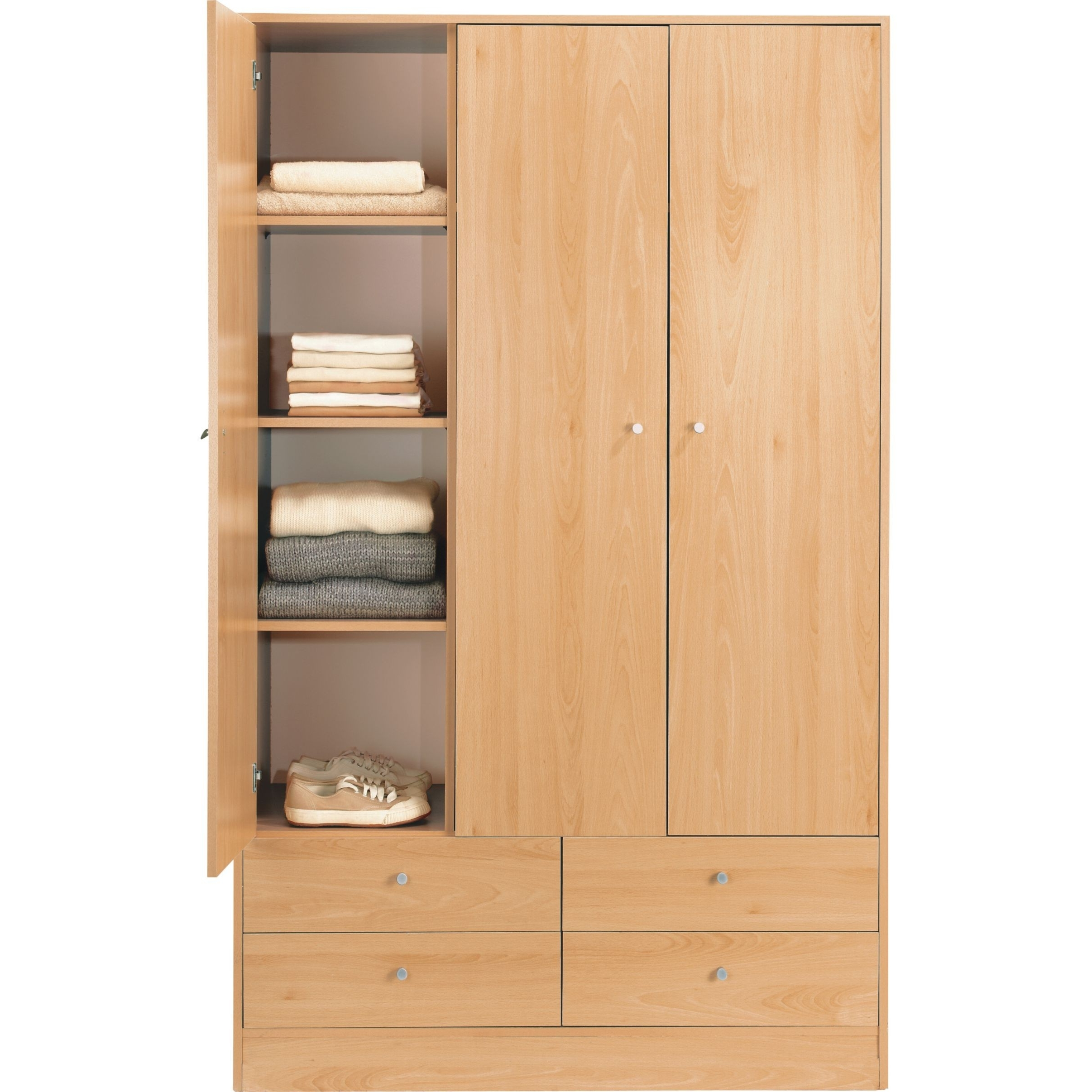 Well Known 3 Door Wardrobes With Drawers And Shelves Pertaining To 178 F20170631421E (View 15 of 15)