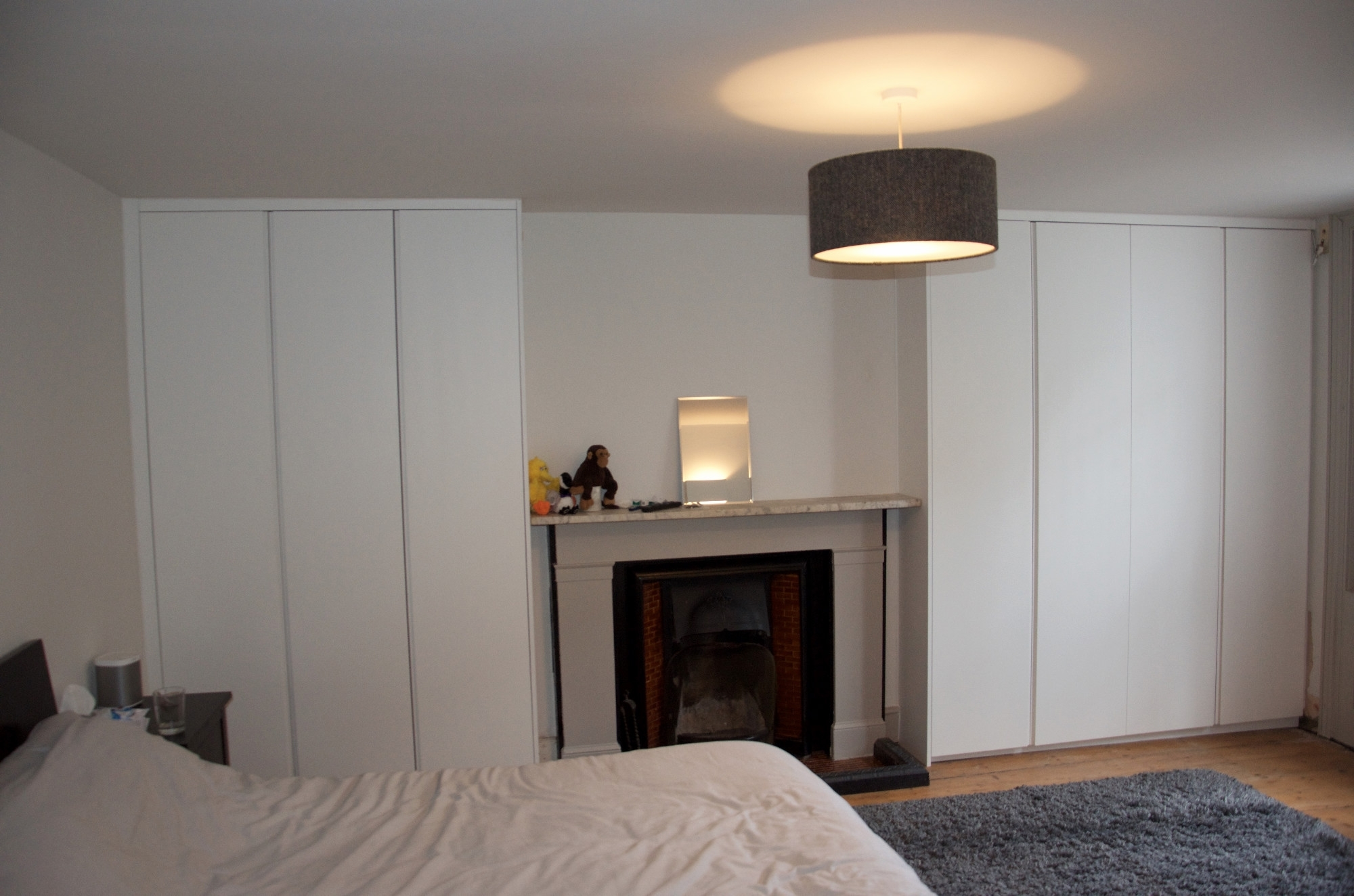 Well Known Alcove Wardrobes With Handleless Spray Painted Doors, Clapham Throughout Alcove Wardrobes (View 11 of 15)