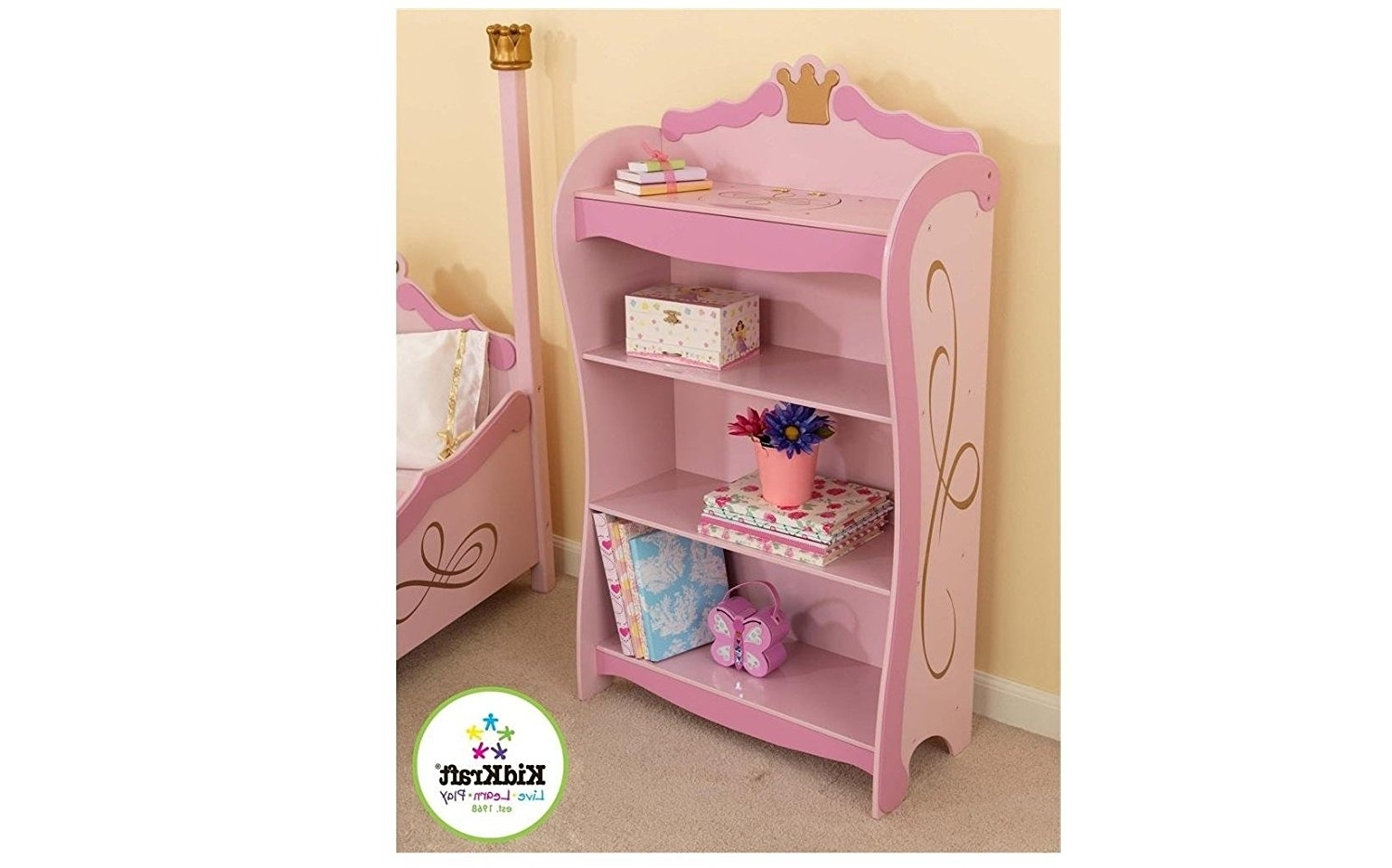 Well Known Amazon: Princess Bookcase: Toys & Games With Regard To Kidkraft Bookcases (View 14 of 15)