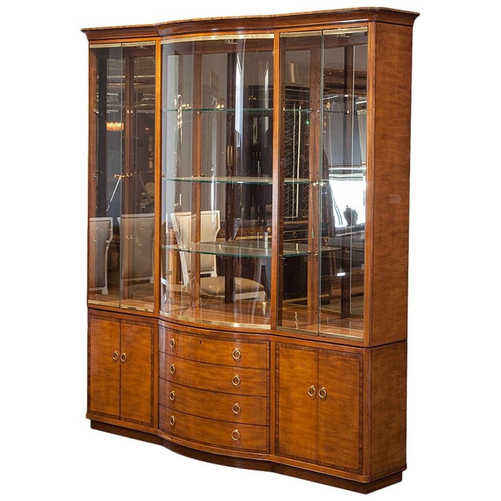 Well Known Antique Breakfront Wardrobes In Vintage Drexel Heritage Breakfront Display Cabinet (View 13 of 15)
