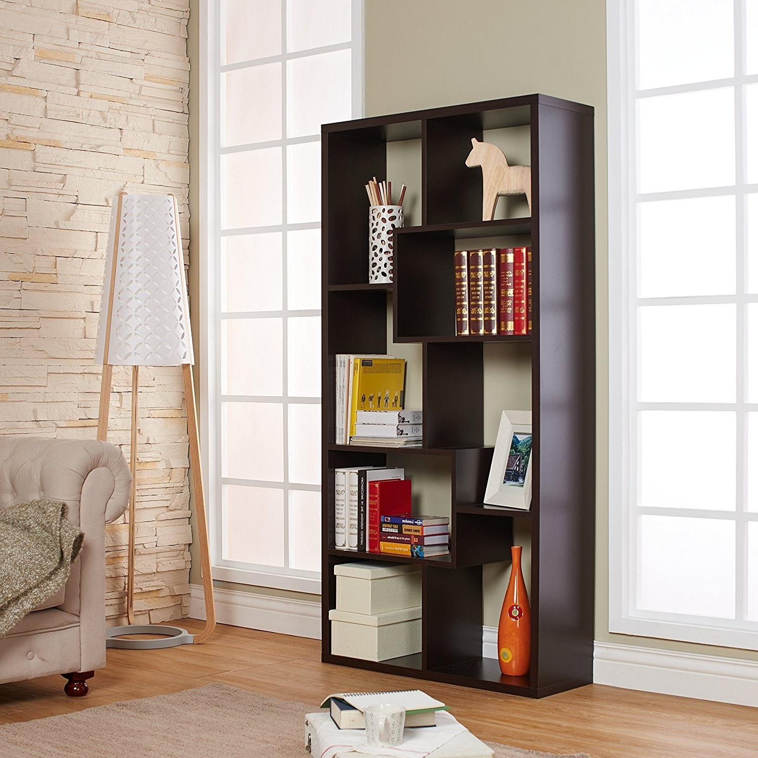 Well Known Backless Bookshelves With Amazon: Iohomes Modern Backless Display Stand/bookcase, Black (View 14 of 15)
