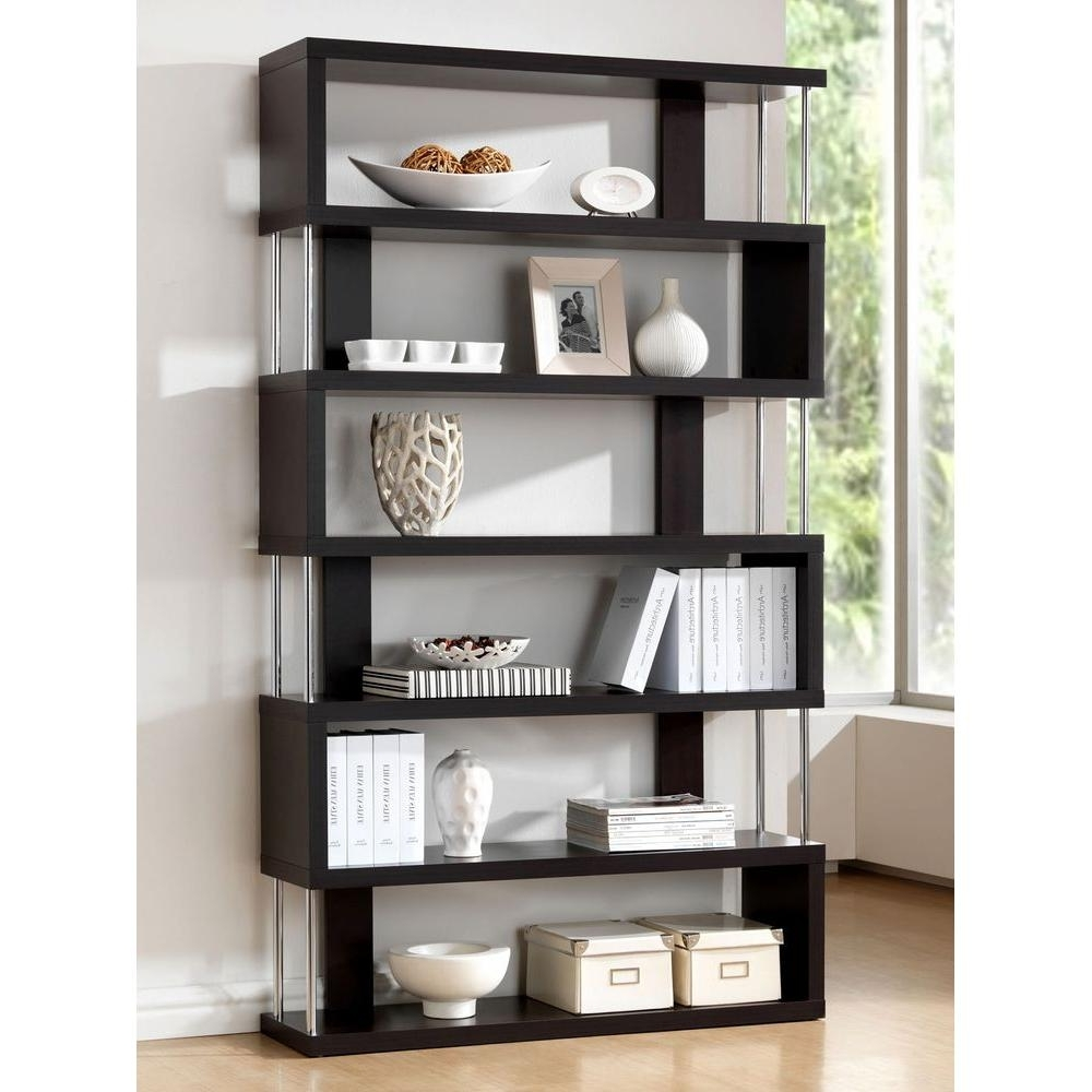 Well Known Baxton Studio Barnes Dark Brown Wood 6 Tier Open Shelf 28862 4340 Intended For 6 Shelf Bookcases (View 4 of 15)
