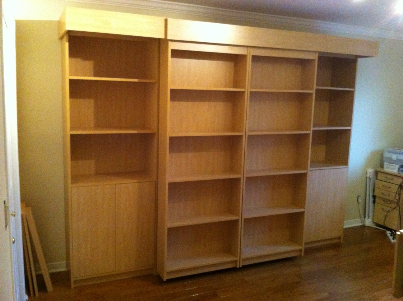 Well Known Bifold Bookcases Within Lofty Design Bookcase Murphy Bed Sliding Library With Kit (View 14 of 15)
