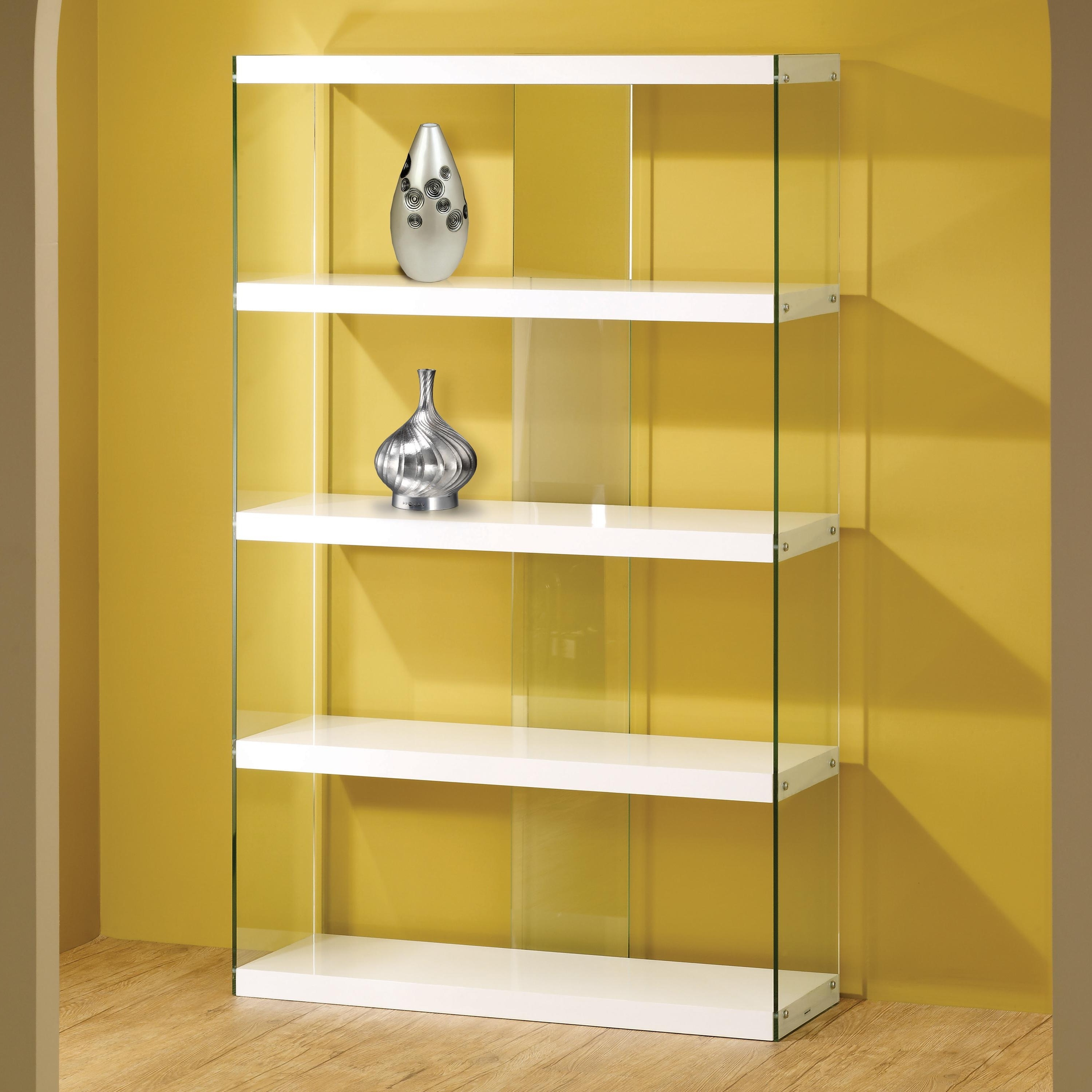 Well Known Bookcases Ideas: Bookcases And Shelves Glass Wood And Metal Inside Glass Bookcases (View 14 of 15)