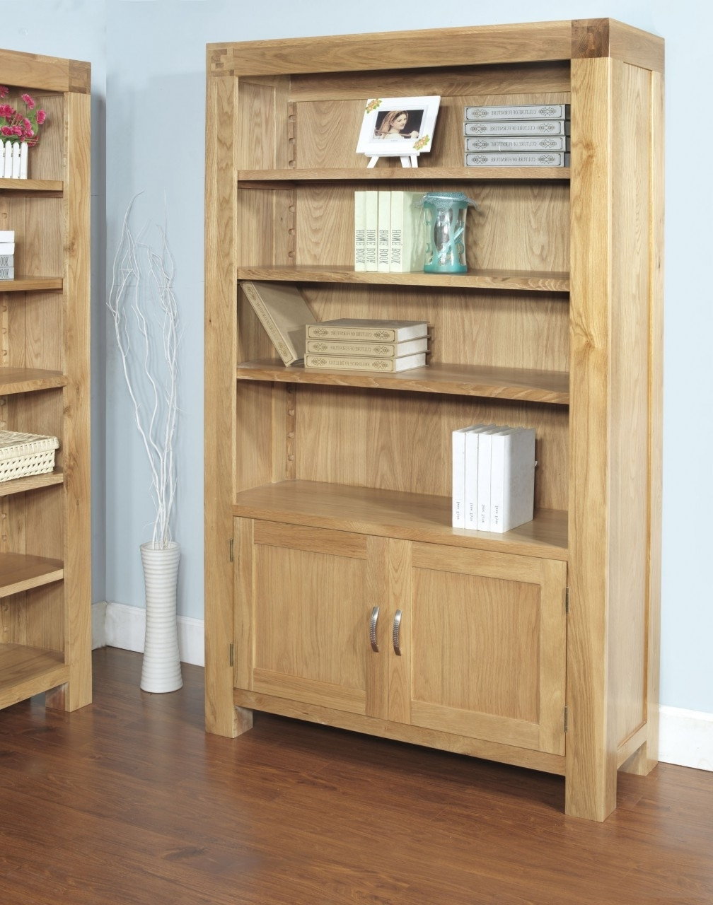 Well Known Bookcases Ideas: Bookcases And Shelving Units Oak Furniture Land Pertaining To Bookcases With Cupboard (View 14 of 15)