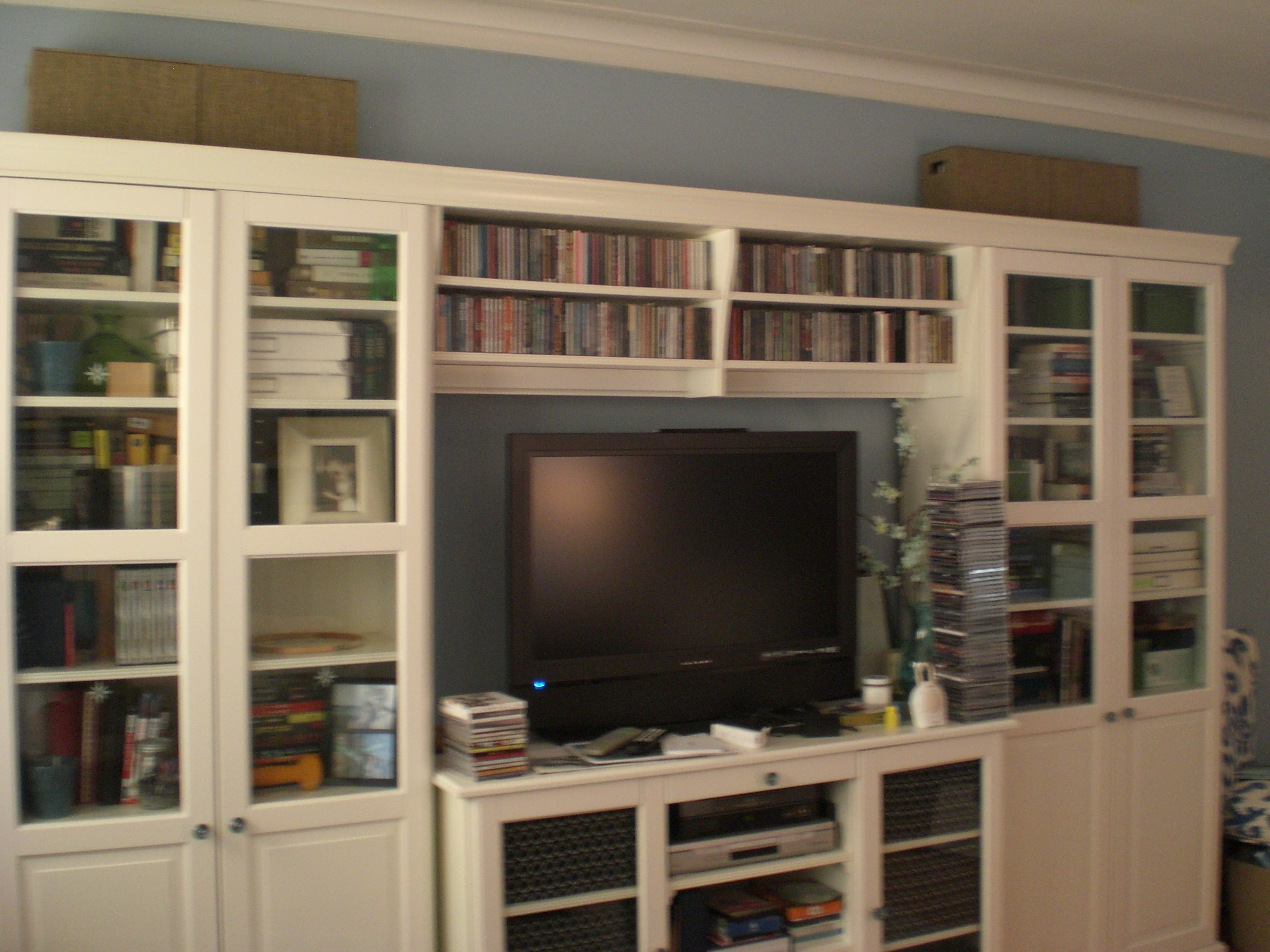 Well Known Bookcases With Tv Storage Intended For Uncluttering The Bookshelves: Done! (View 10 of 15)