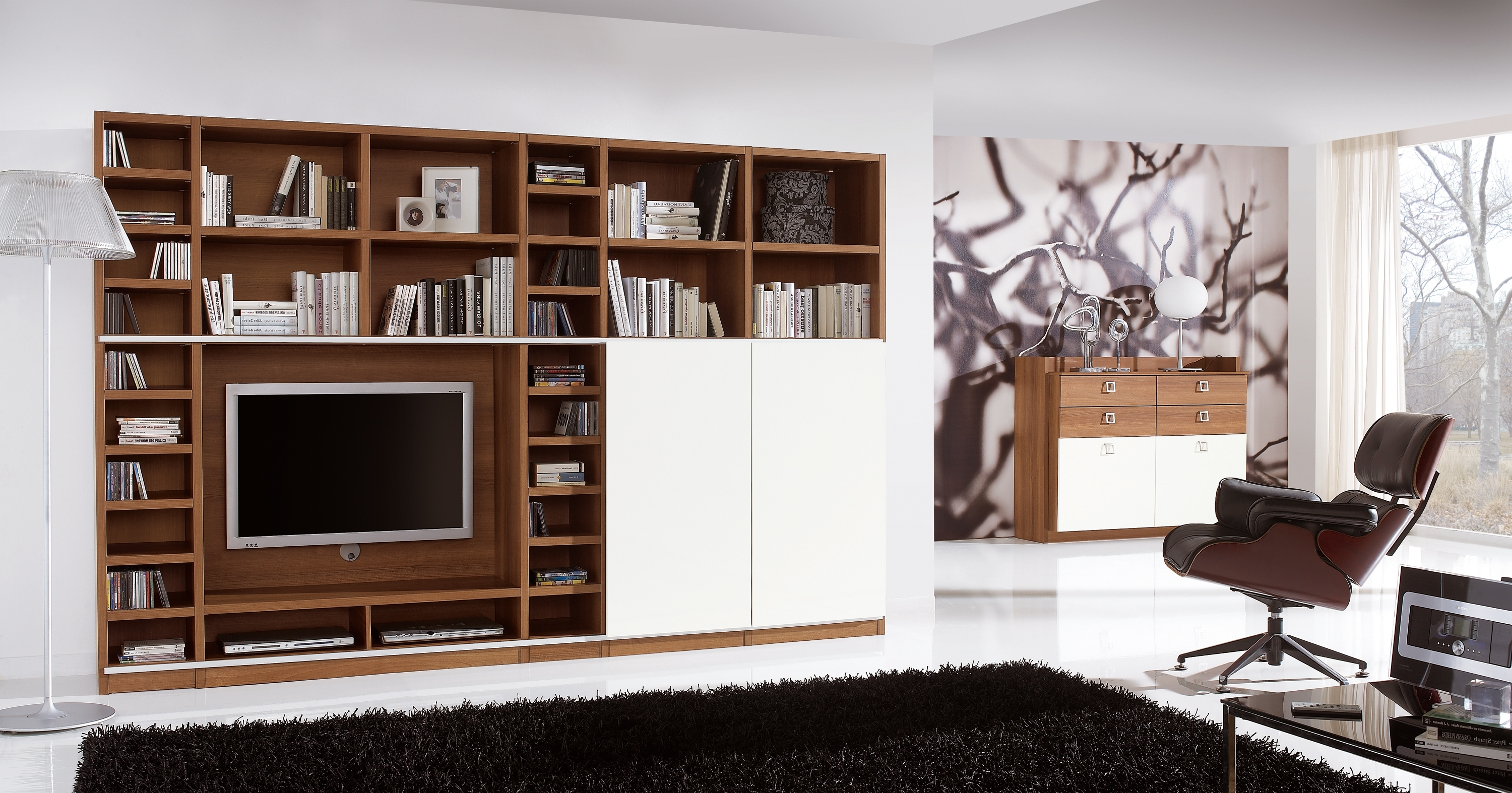 Well Known Bookcases With Tv Storage Regarding Fabulous Home Office Cabinets With White Doors As Inspiring Living (View 13 of 15)