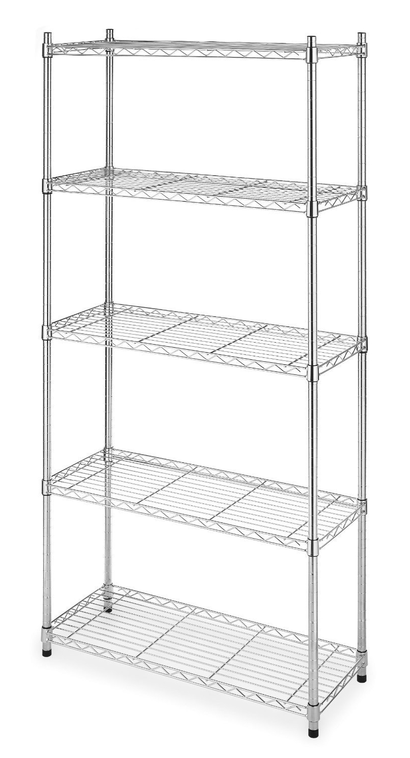 "Well Known Cheap Shelving Units Within Amazon: 5 Shelf Steel Wire Tier Layer Shelving 72""x36""x (View 13 of 15)"