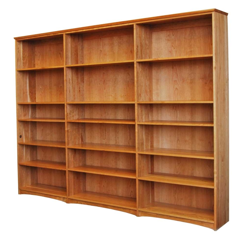 Well Known Cherry Wood Bookcases Inside Triple Bookcase In Solid Hardwood From Scott Jordan Furniture (View 14 of 15)