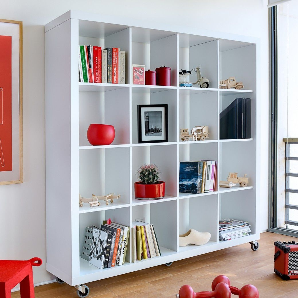 Well Known Contemporary Oak Shelving Units In Shelf On Casters / Contemporary / Wooden / Lacquered Wood – Rolly (View 13 of 15)