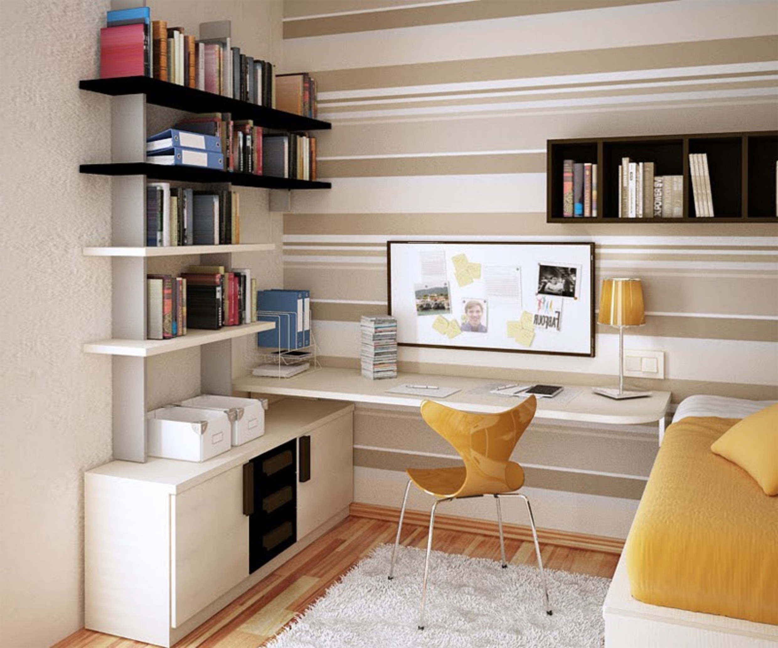 Well Known Cool L Shaped Teenage Desk In Small Classy Contemporary Teenage Pertaining To Study Bookshelves (View 12 of 15)