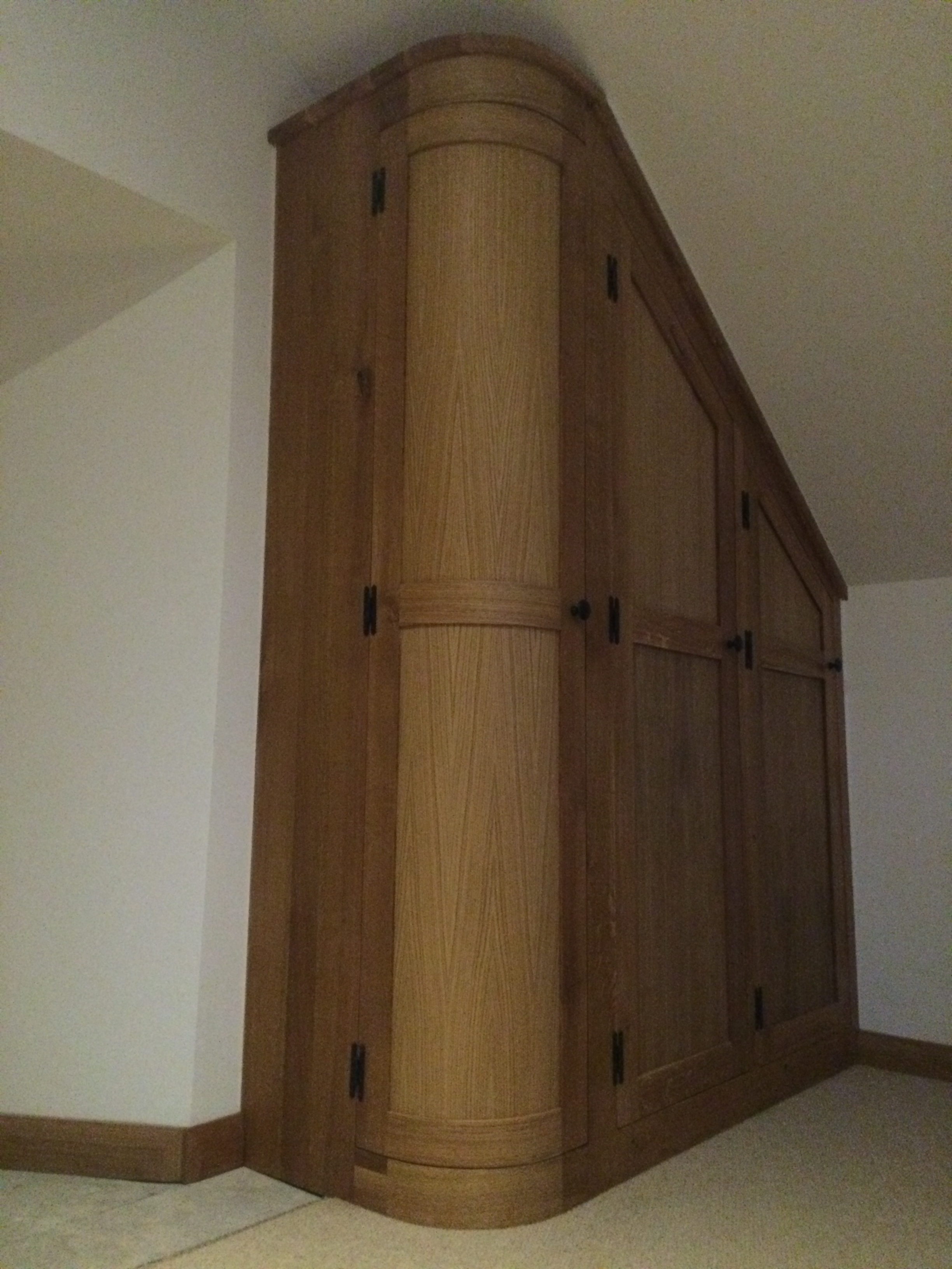 Well Known Curved Wardrobe Doors Create Real Interest In This Fitted Dressing Pertaining To Curved Wardrobes Doors (View 15 of 15)