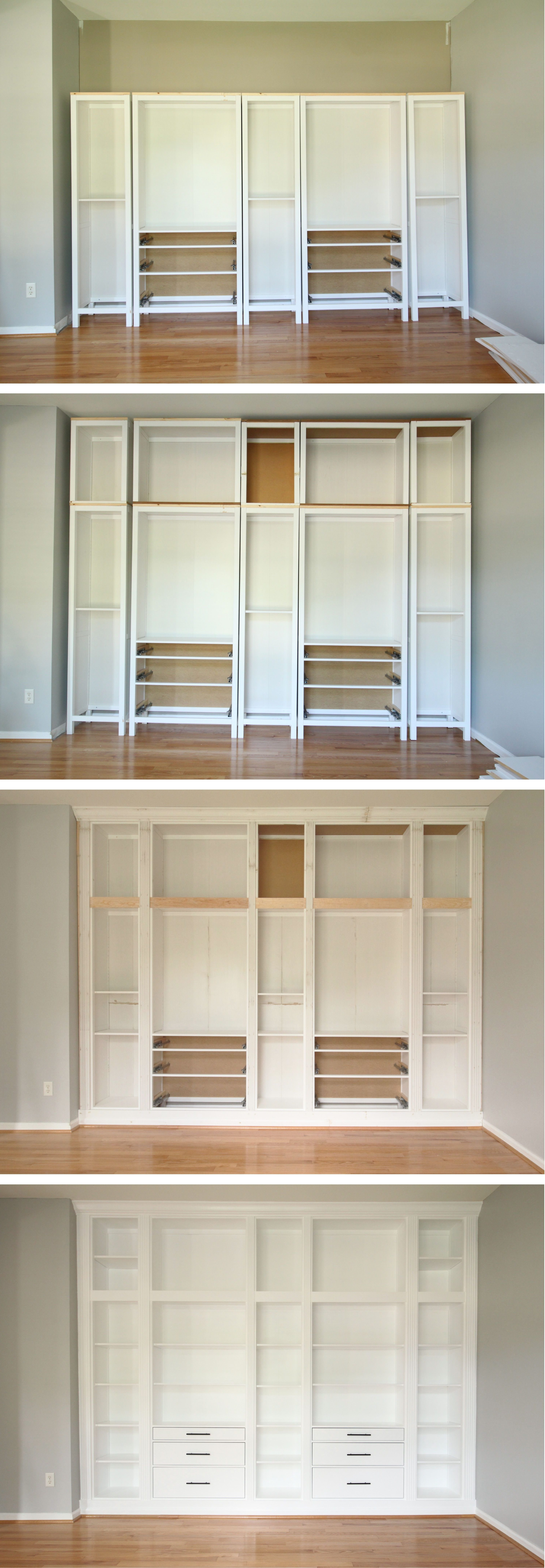 Well Known Diy Built In Bookcases With Regard To Ikea Hack: Diy Built In Bookcase With Hemnes Furniture (View 11 of 15)
