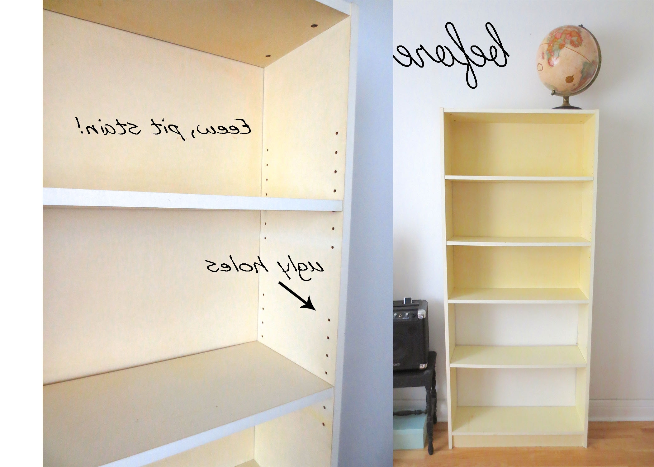 Well Known Diy Painted Billy Bookcase Getting Rid Of The Holes For Adjustable With Bookcases Cover (View 14 of 15)