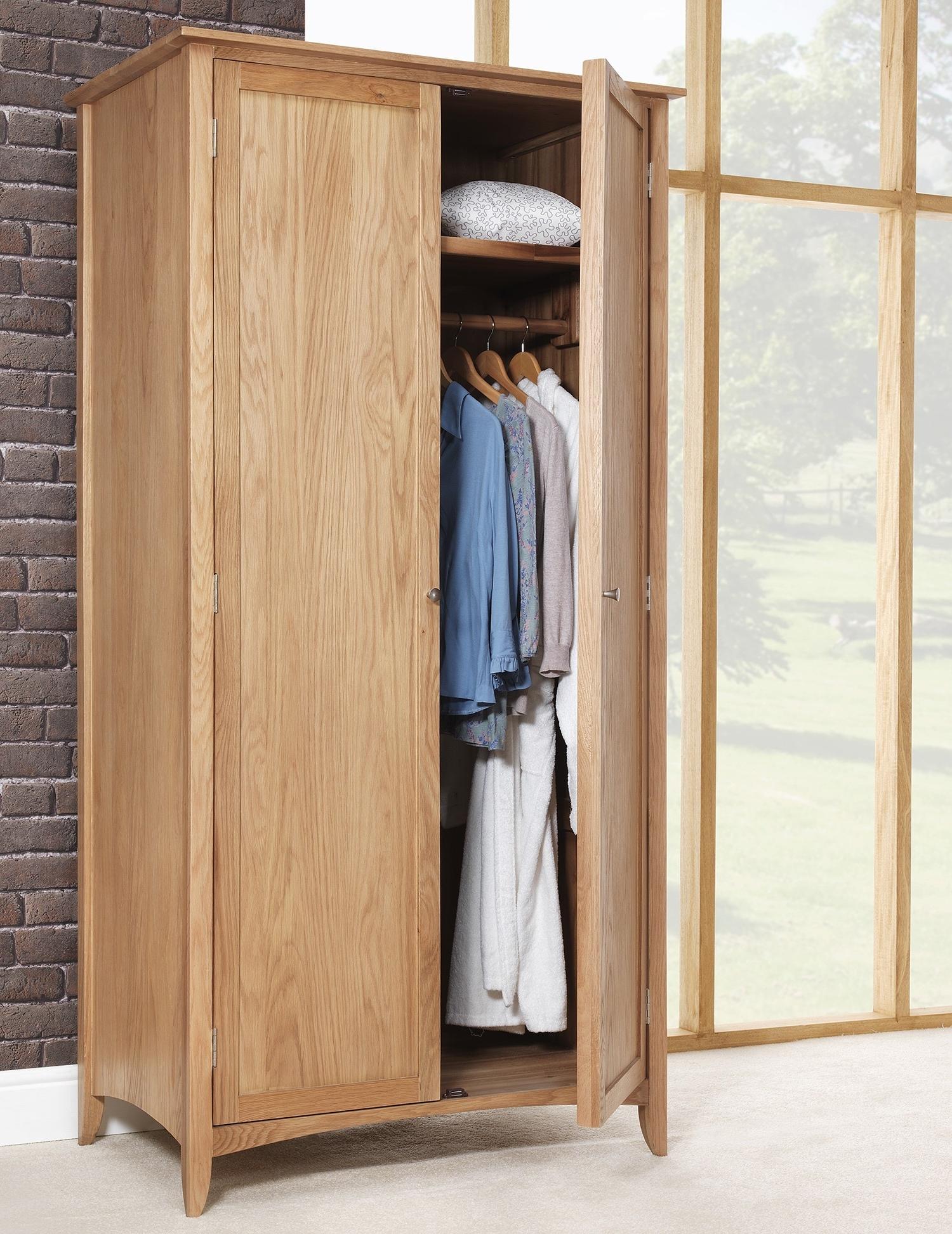 Well Known Edward Hopper Oak Double Wardrobe (View 9 of 15)
